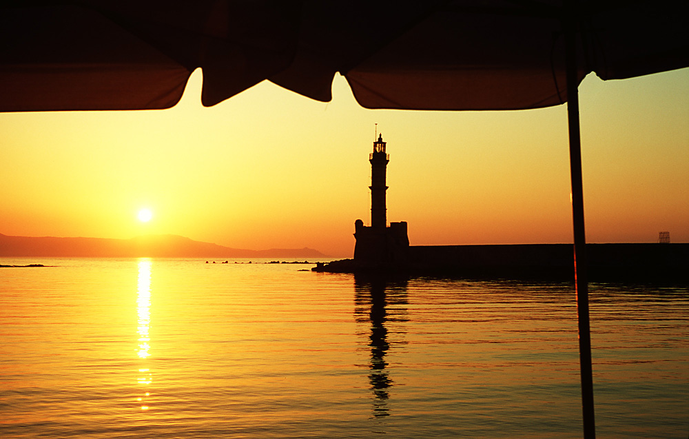 Chania, Greece sunset